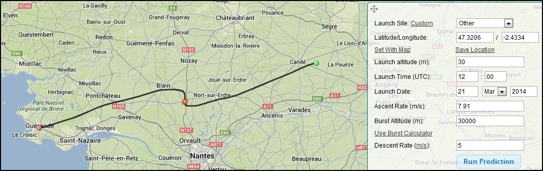 estimation impact 2103 12z Guerande