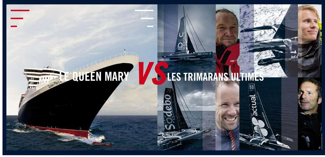 queen mary2 vs trimarans